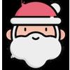Иконка Деда Мороза