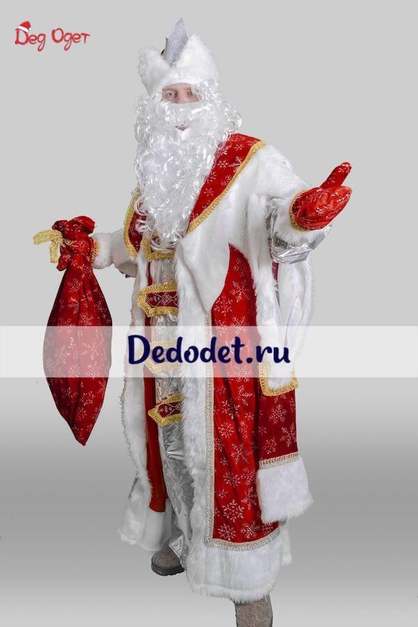 Дед мороз в королевском костюме вид сбоку