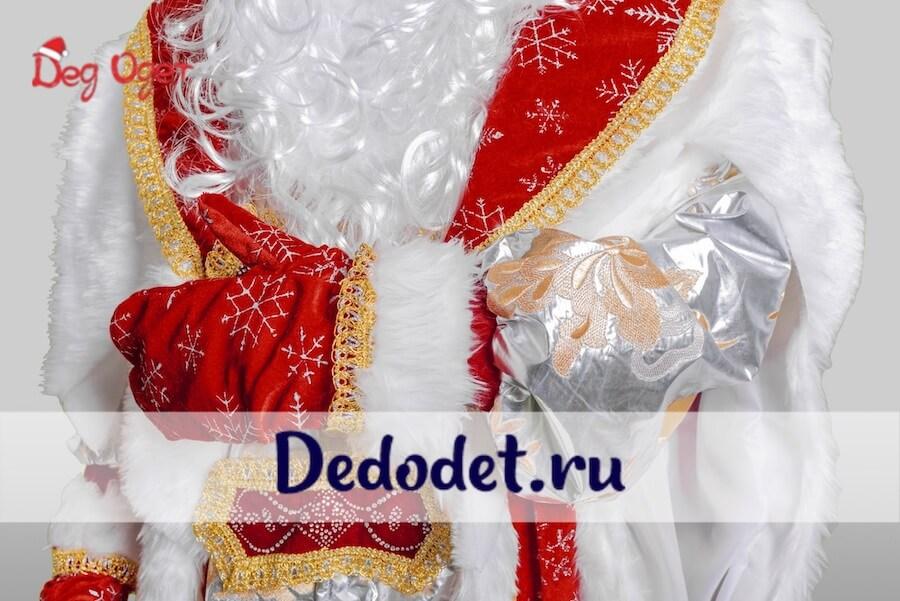 Дед Мороз в Королевском костюме крупный план