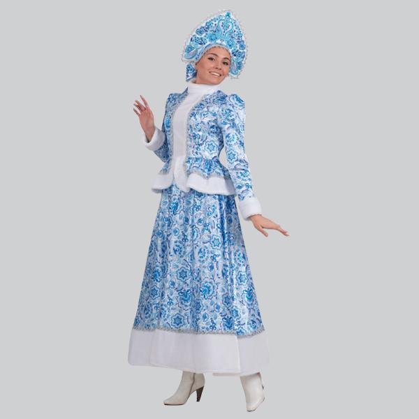 Длинный костюм Снегурочки Гжель