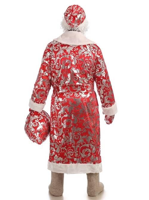 Дед Мороз в Блестящем костюме вид сзади