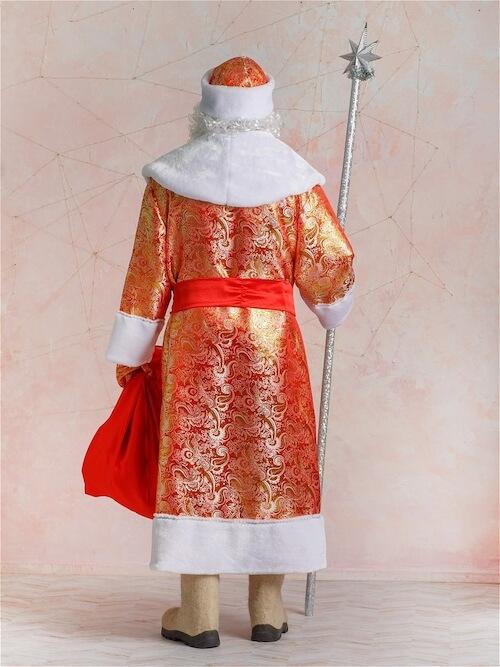 Парчовый костюм Деда Мороза вид сзади