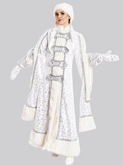 Костюм Снегурочки Боярыня Белый купить недорого